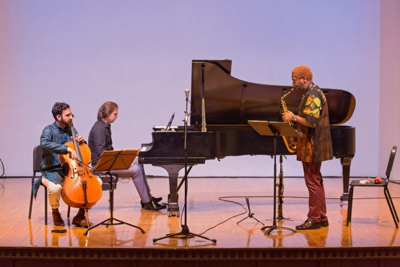 Yves Dharamraj, Orlando Alonso and Yosvany Terry (from left) -- the Bohemian Trio -- live at the 2016 Spoleto Festival USA