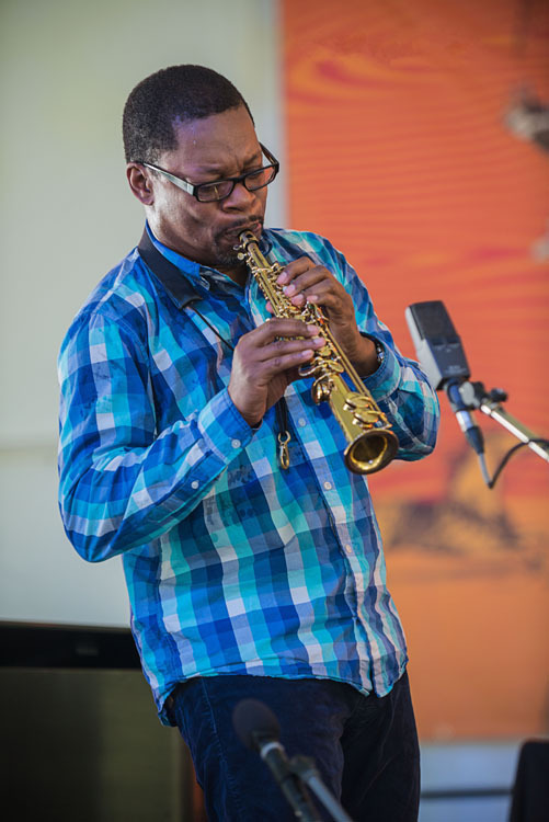 Saxophonist Ravi Coltrane performs at Funhouse Fest, curated by Bruce Hornsby, in Williamsburg, Virginia in June 2016