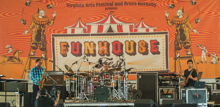 From left: Coltrane, DeJohnette and Garrison perform at Funhouse Fest