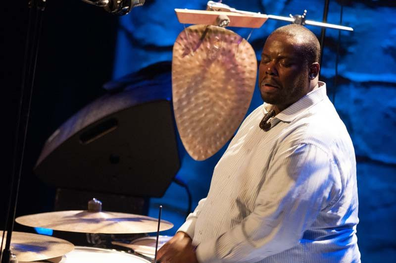 Johnathan Blake performs with Kenny Barron at the 2016 Montreal International Jazz Festival