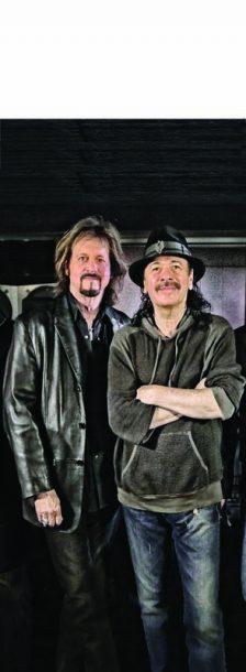 Photo of guitar and organ combination of Carlos Santana and Gregg Rolie