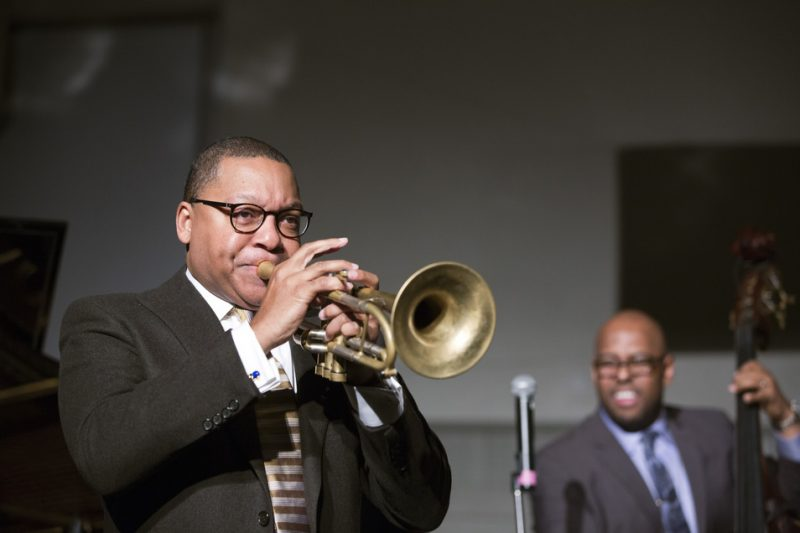 Wynton Marsalis (with Christian McBride on bass), Disability Pride Concert, NYC, January 2016