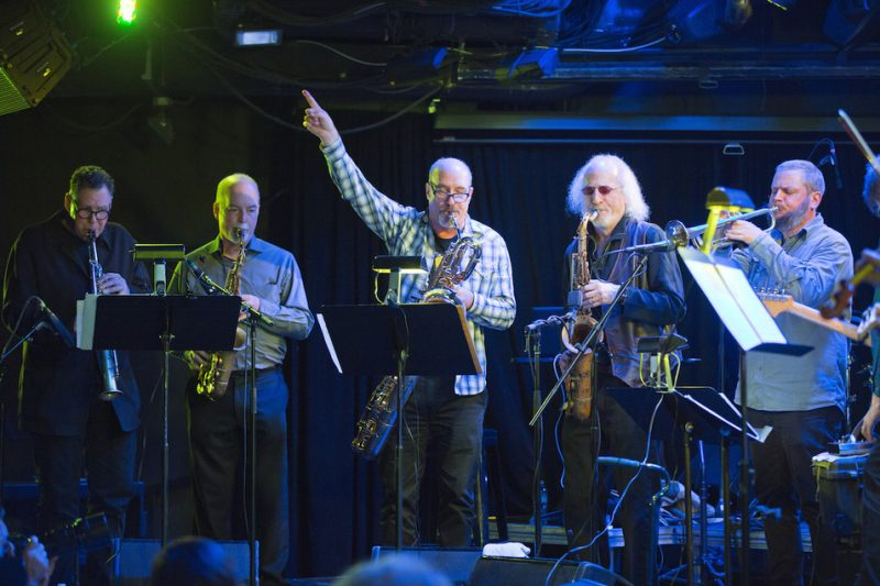 Rova Saxophone Quartet (with Nate Wooley on trumpet at right), NYC Winter Jazzfest, January 2016