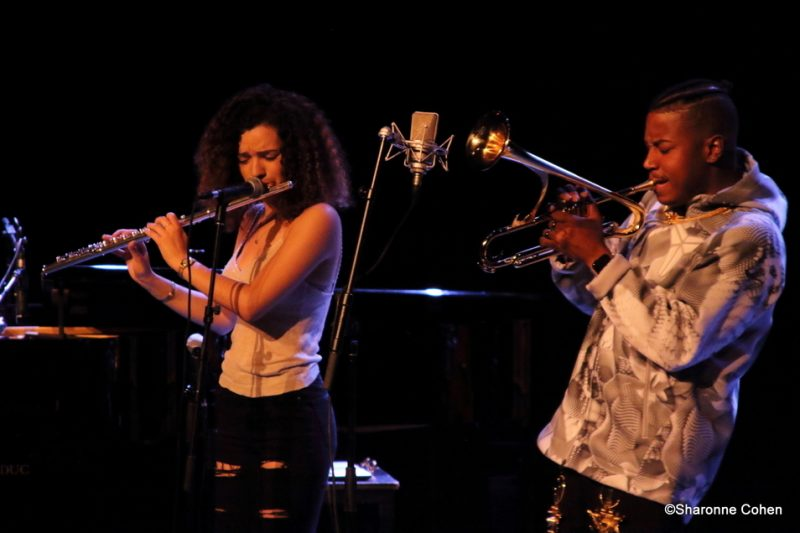 Christian Scott aTunde Adjuah and Elena Pinderhughes perform at the 2016 Montreal International Jazz Festival