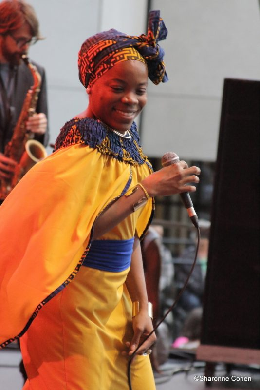 Malika Tirolien performs at the 2016 Montreal International Jazz Festival