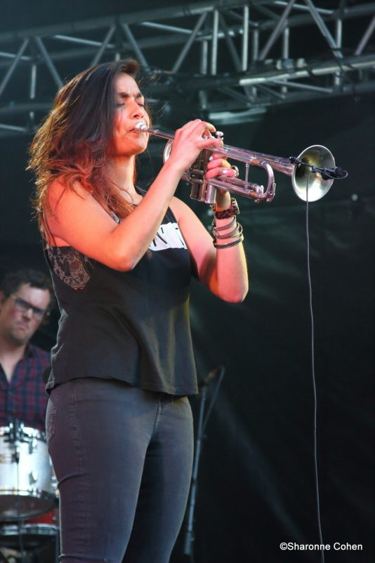 Tara Kannangara performs at the 2016 Montreal International Jazz Festival