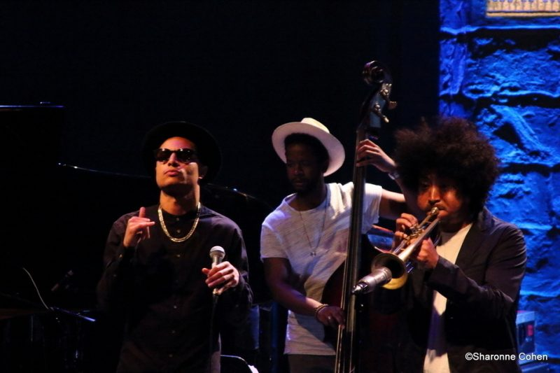 José James, Ben Williams and Takuya Kuroda (from left) pay tribute to Chet Baker at the 2016 Montreal International Jazz Festival