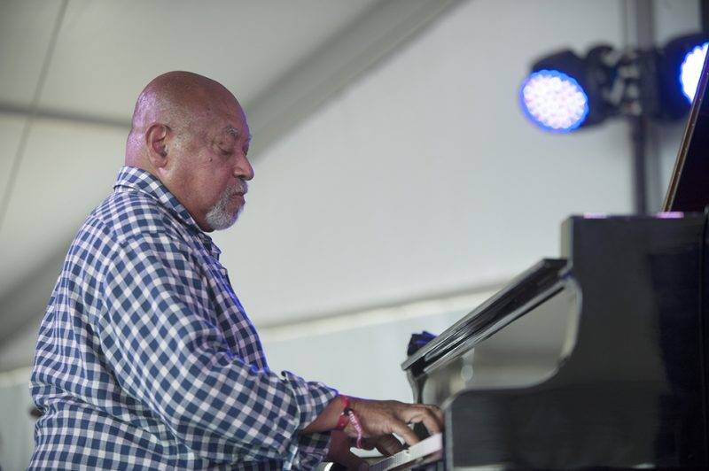 Kenny Barron leads his trio at the 2016 Newport Jazz Festival