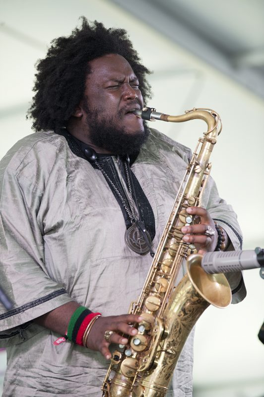 Kamasi Washington performs at the 2016 Newport Jazz Festival