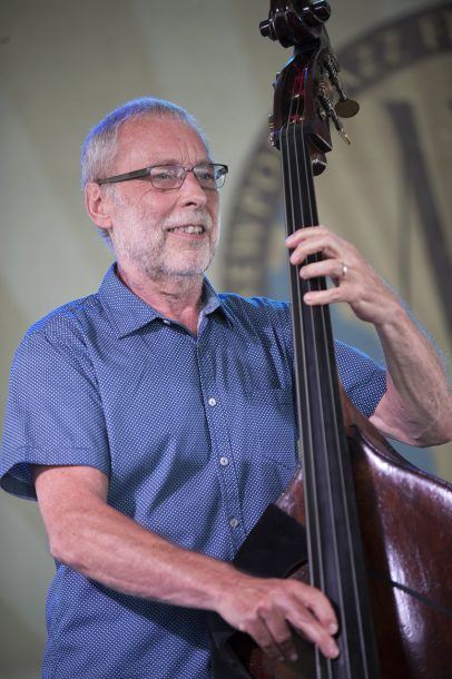 Dave Holland performs with Lionel Loueke, Chris Potter and Eric Harland at the 2016 Newport Jazz Festival