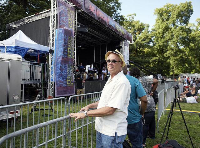 JazzTimes' Lee Mergner at the 2016 Montclair Jazz Festival