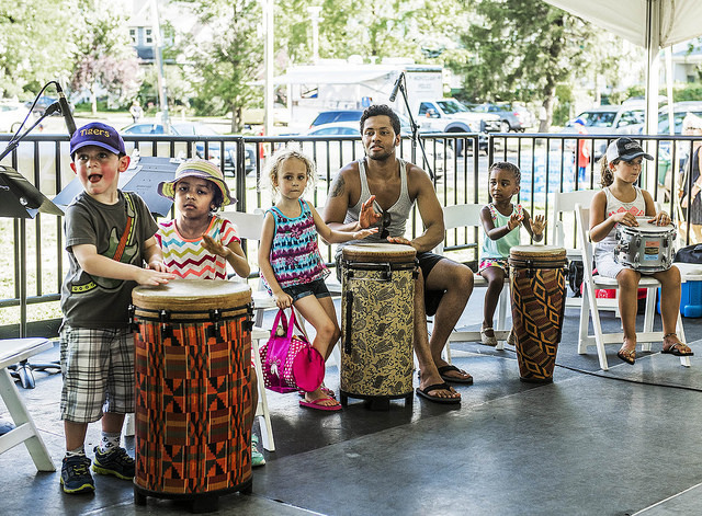 Family Jazz Discovery Zone at the 2016 Montclair Jazz Festival