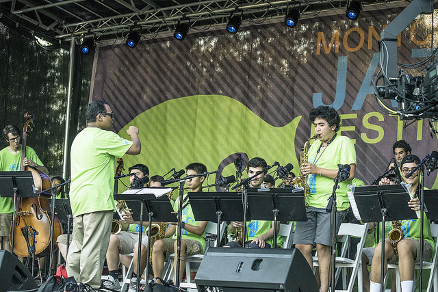 Jazz House Big Band performs at the 2016 Montclair Jazz Festival, directed by Julius Tolentino