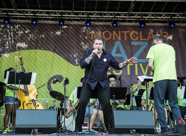 Louis Prima Jr. performs with Jazz House Kids' Dynasty Big Band directed by Mike Lee at the 2016 Montclair Jazz Festival