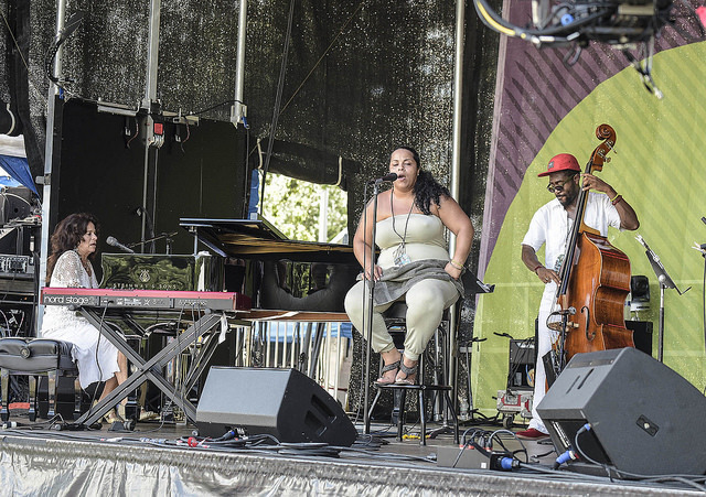 Michele Rosewoman performs with New Yor-Uba at the 2016 Montclair Jazz Festival