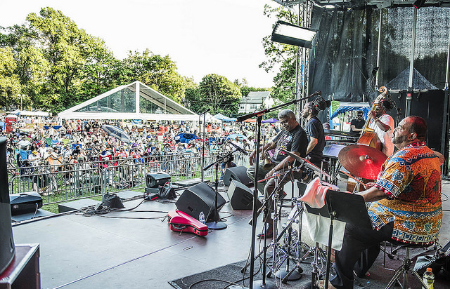 The George Coleman Band performs at the 2016 Montclair Jazz Festival