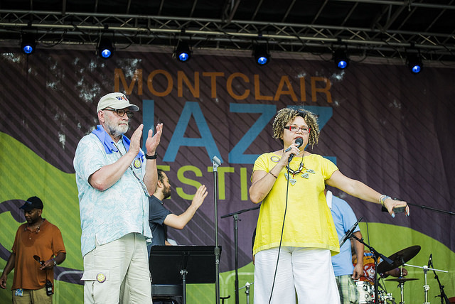 Gary and Melissa Walker at the 2016 Montclair Jazz Festival
