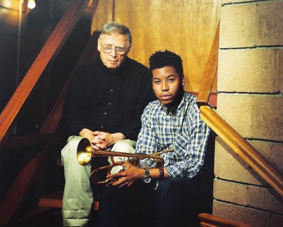 Rudy Van Gelder (left) and Christian Scott image 0