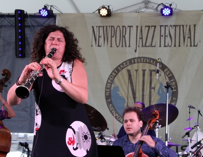 Clarinetist Anat Cohen brought her Tentet to the 2016 Newport Jazz Festival