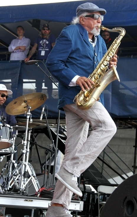 Saxophonist Charles Lloyd performs at the 2016 Newport Jazz Festival