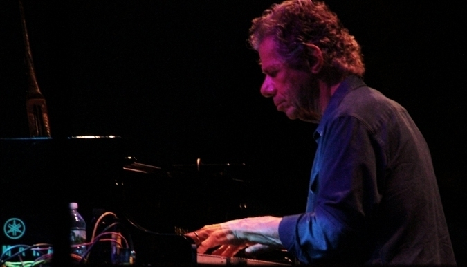 Chick Corea at the 2016 Newport Jazz Festival's opening night performance at the International Tennis Hall of Fame at Newport Casino