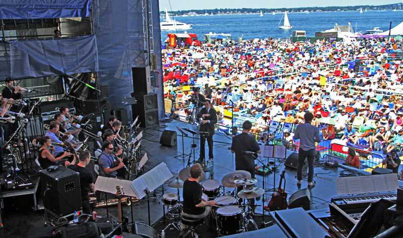 Darcy James Argue's Secret Society at the 2016 Newport Jazz Festival (photo by Ken Franckling)