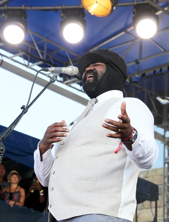 Gregory Porter at the 2016 Newport Jazz Festival