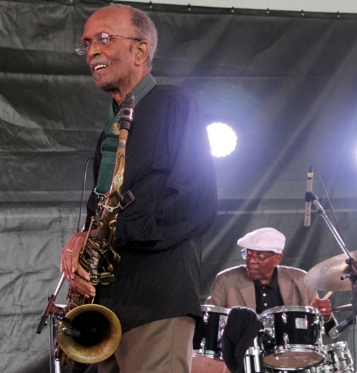 "Brothers Jimmy and Albert ""Tootie"" Heath at the 2016 Newport Jazz Festival"