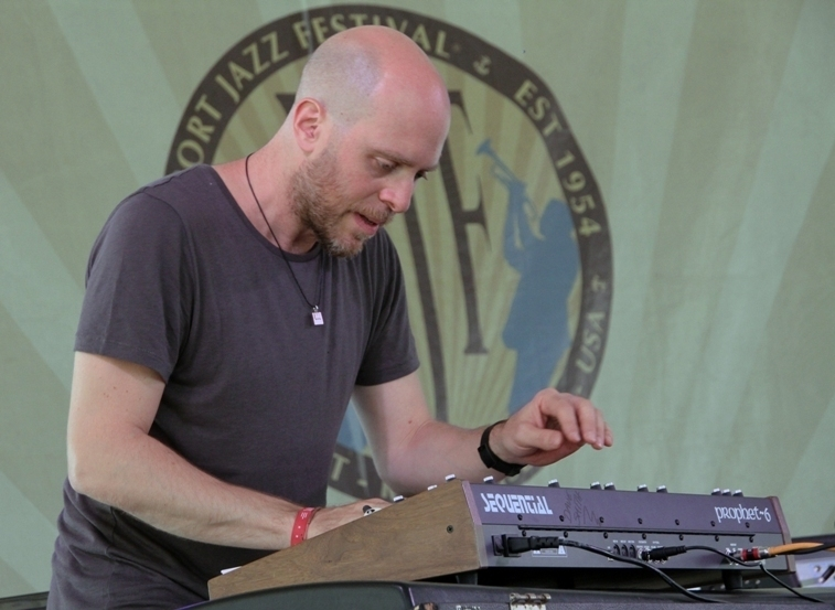 Keyboard player Jason Lindner performed with Donny McCaslin at the 2016 Newport Jazz Festival
