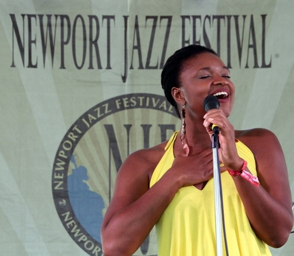 Lizz Wright performs at the 2016 Newport Jazz Festival
