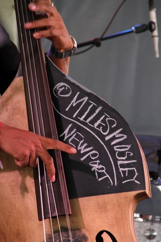Bassist Miles Mosley brought a social media touch to Kamasi Washington's two 2016 Newport Jazz Festival performances