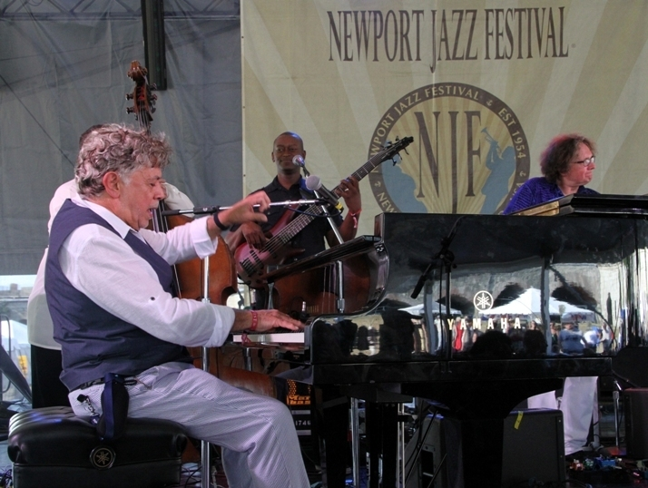 Monty Alexander performed with his Harlem-Kingston Express at the 2016 Newport Jazz Festival