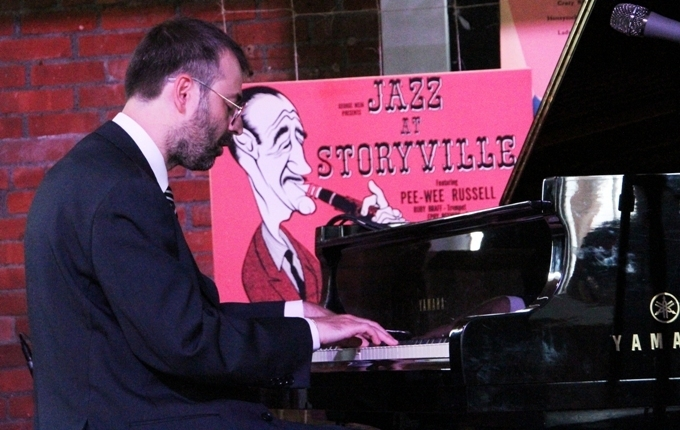 Rossano Sportiello in the cozy Storyville Club at the 2016 Newport Jazz Festival