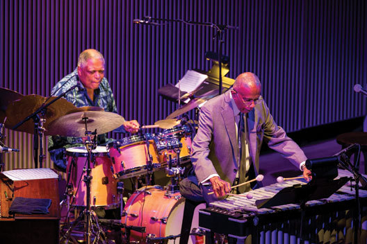 Bobby Hutcherson (left) and drummer Billy Hart at thr SFJAZZ Center, 2014