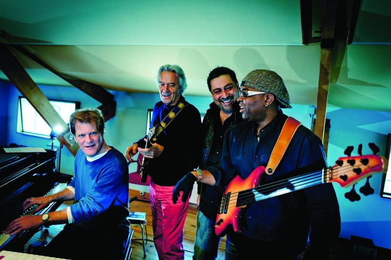 John McLaughlin and the 4th Dimension, from left: Gary Husband, the guitarist, Ranjit Barot and Etienne Mbappe