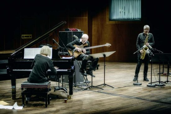 """Her questing spirit is undiminished"": Carla Bley, with Steve Swallow and Andy Sheppard (from left) image 0"