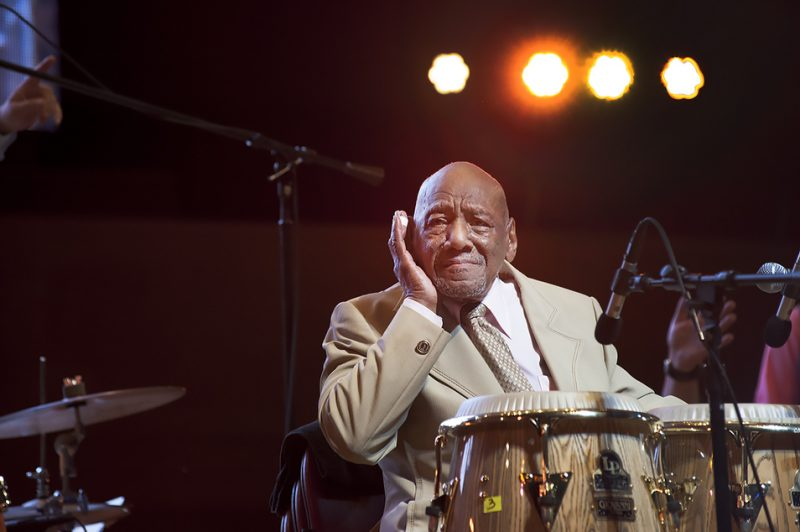 Candido Camero performs at the 2016 Chicago Jazz Festival