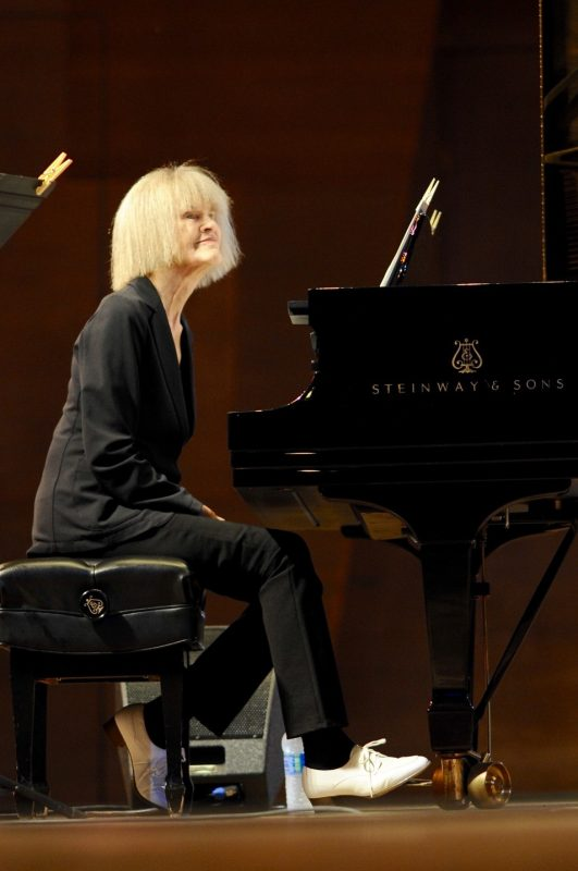 Carla Bley performs at the 2016 Chicago Jazz Festival