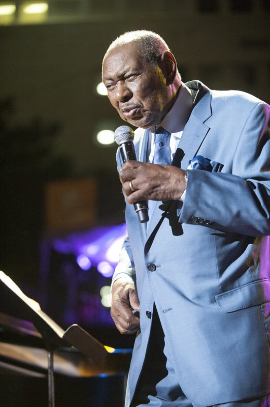 Freddy Cole performs at the 2016 Detroit Jazz Festival