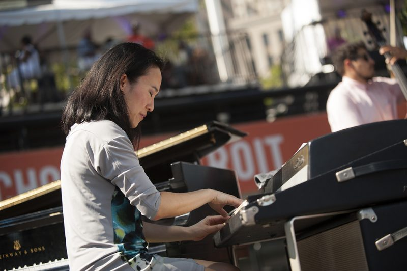 Helen Sung performs with Terri Lyne Carrington's Mosaic Project at the 2016 Detroit Jazz Festival