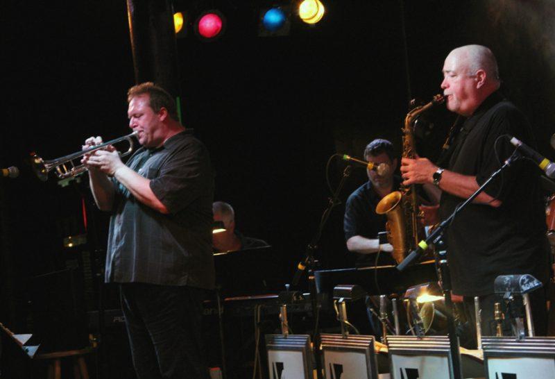 Trumpeter John Allmark and alto saxophonist Bob Bowlby