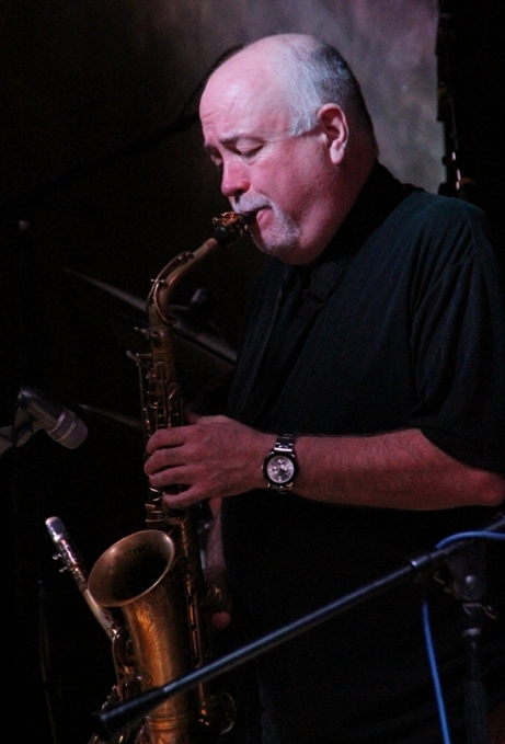 Alto saxophonist Bob Bowlby solos with the John Allmark Jazz Orchestra