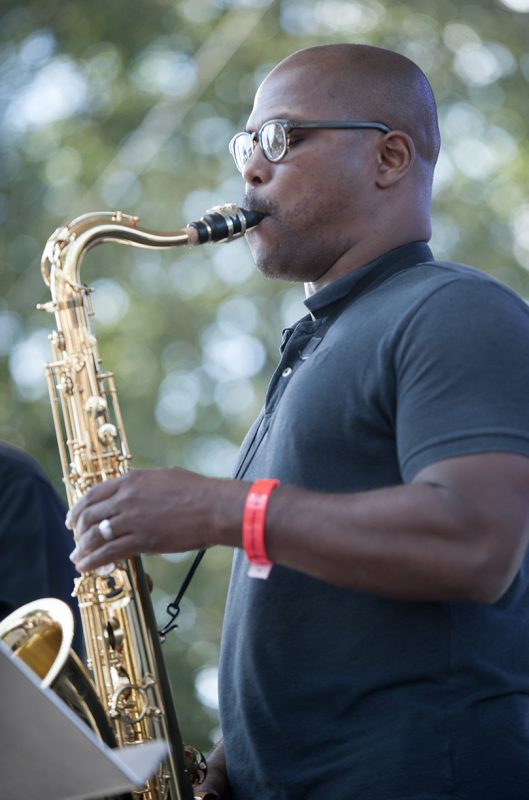 JD Allen performs with David Weiss and Point of Departure at the 2016 Detroit Jazz Festival
