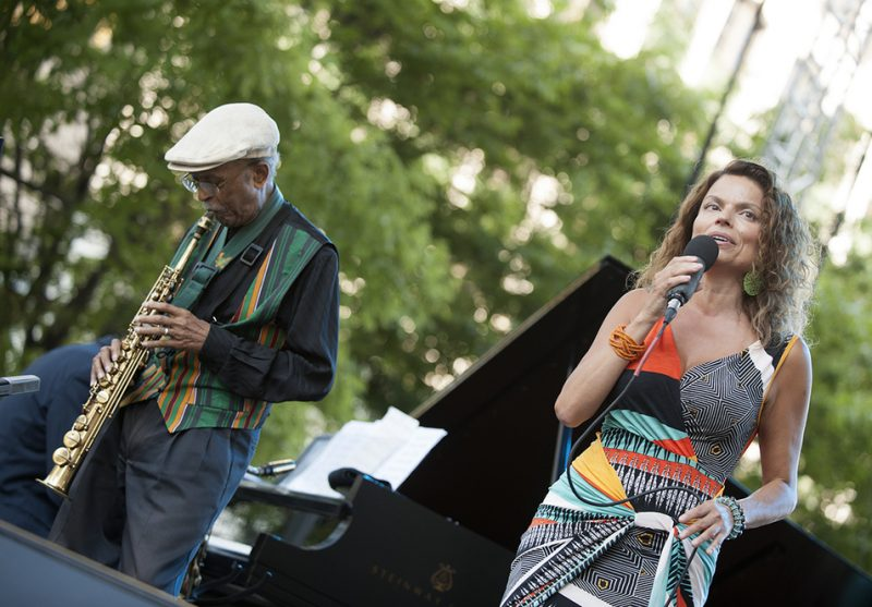 Jimmy Heath and Roberta Gambarini perform at the 2016 Detroit Jazz Festival