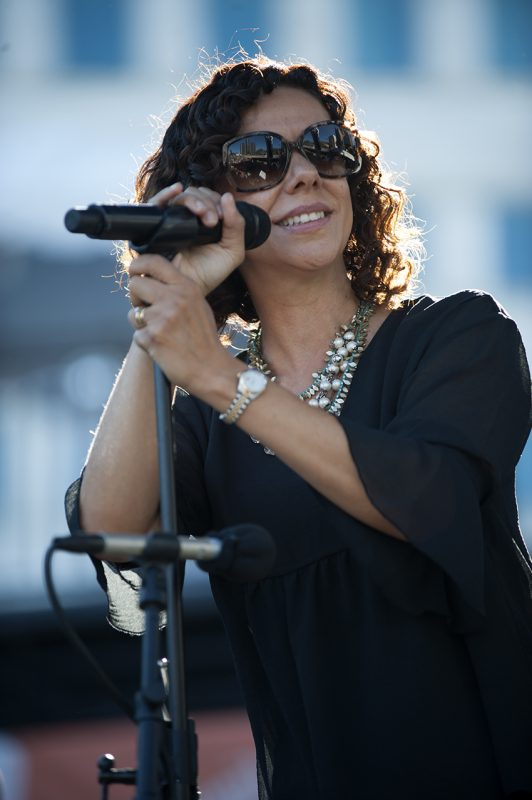Luciana Souza performs at the 2016 Detroit Jazz Festival