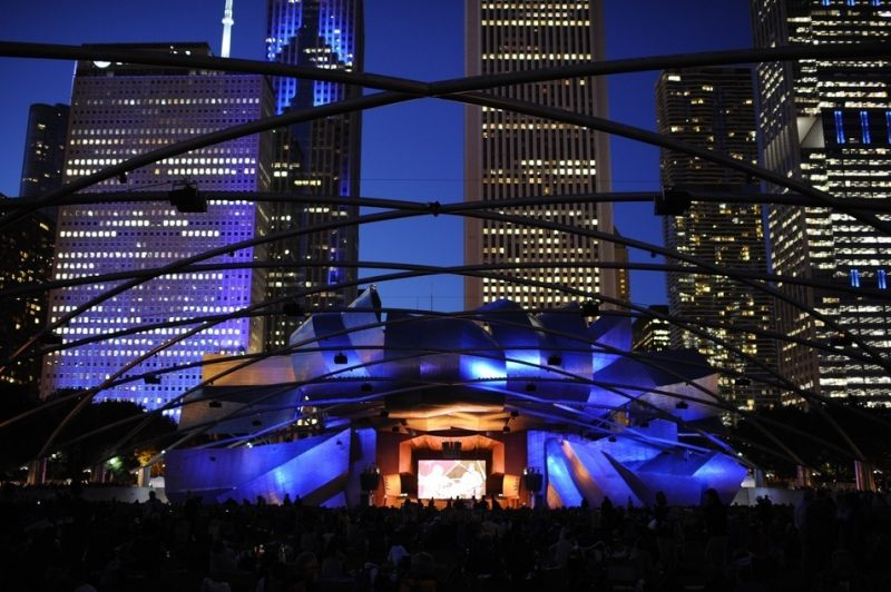 Millenium Park during the 2016 Chicago Jazz Festival