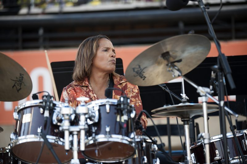 Terri Lyne Carrington leads her Mosaic Project at the 2016 Detroit Jazz Festival