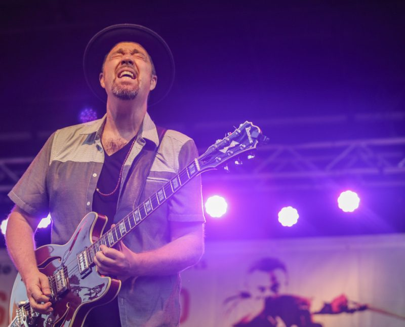 Eric Krasno performs at the 2016 Springfield Jazz & Roots Festival