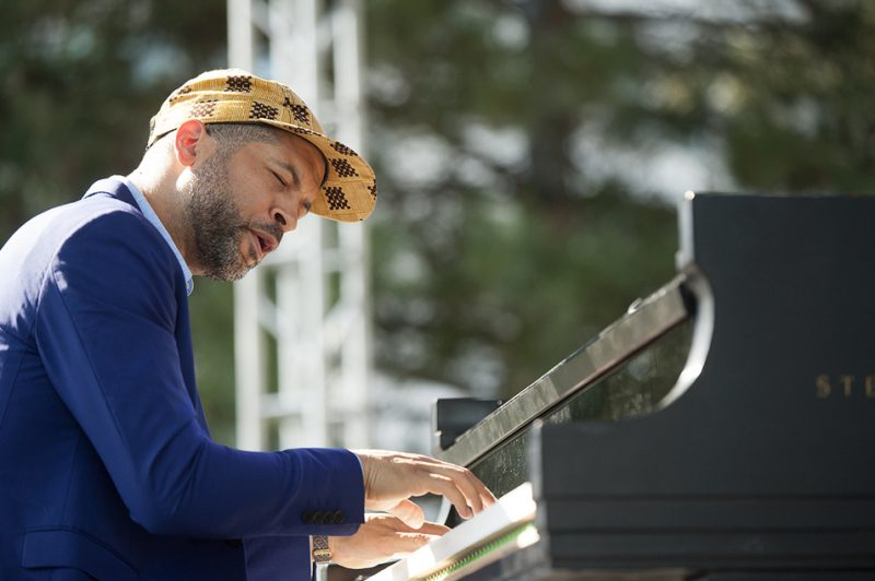Jason Moran performs at the 2016 Detroit Jazz Festival