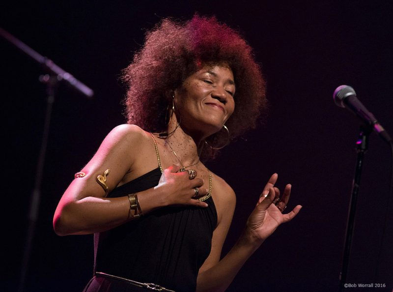 Patrice Quinn performs with Kamasi Washington at the 2016 TD Ottawa Jazz Festival